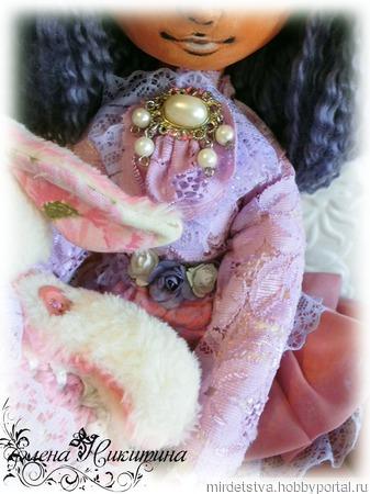 Куколка Флора и кролик Фин ручной работы на заказ