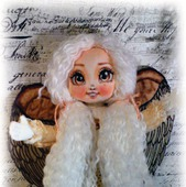 Куколка - ангел Софи и мишка- Карамелька