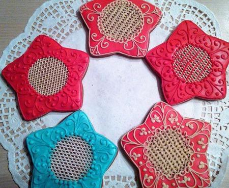 Пряничные ёлочные украшения ручной работы на заказ