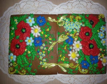 """Пряничный домик """"Полевые цветы"""" ручной работы на заказ"""