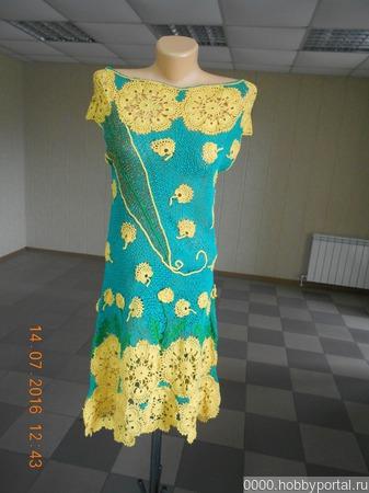 Ажурное платье ручной работы на заказ