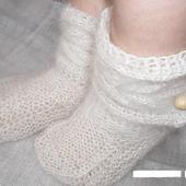 Пуховые носки-сапожки (козий пух)