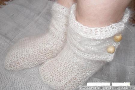 Пуховые носки-сапожки (козий пух) ручной работы на заказ