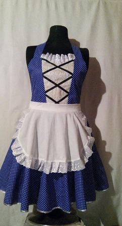 """Фартук-костюм женский """"Горничная"""" (юбка солнце,белый передник) ручной работы на заказ"""