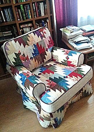 Чехол лоскутный на кресло ручной работы на заказ