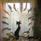 """Шторы лоскутные """"Черная кошка"""""""