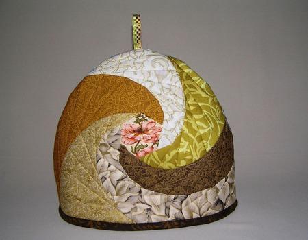 Лоскутная грелка для чайника (прихватка, под горячее, пэчворк, набор) ручной работы на заказ
