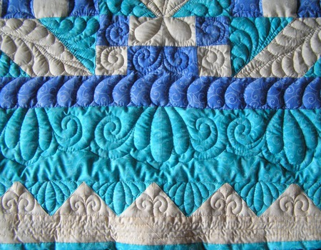 """Одеяло лоскутное детское """"Голубой бриз"""" ручной работы на заказ"""