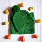 Детский вязаный комплект Просто Зеленый
