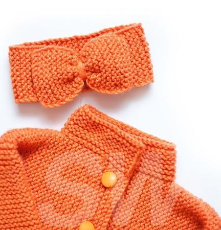"""Детский кардиган """"Оранж"""" ручной работы на заказ"""