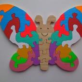 Бабочка пазлы из дерева