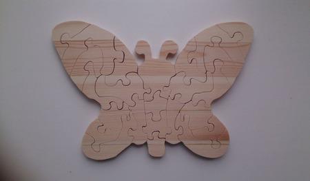 Бабочка пазлы из дерева ручной работы на заказ
