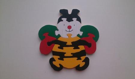 Пчелка пазлы из дерева ручной работы на заказ