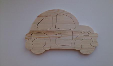 Яркая машинка пазлы из дерева ручной работы на заказ