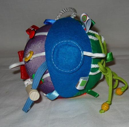 """Развивающий мячик """"Радуга"""" ручной работы на заказ"""