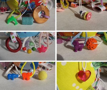 Развивающий мячик с подвесками ручной работы на заказ