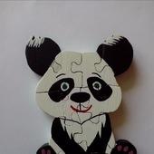 Панда пазлы дерево