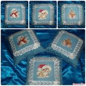 Текстильные подушечки с вышивкой