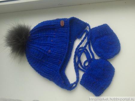 Комплект (шапка и варежки) ручной работы на заказ