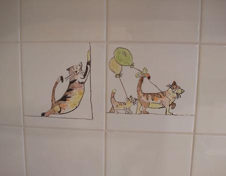 """Декор для плитки """"Кошечки"""" ручной работы на заказ"""