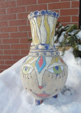 Многоликая ваза ручной работы на заказ