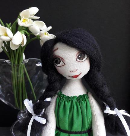 Мечтуля  - текстильная куколка ручной работы на заказ