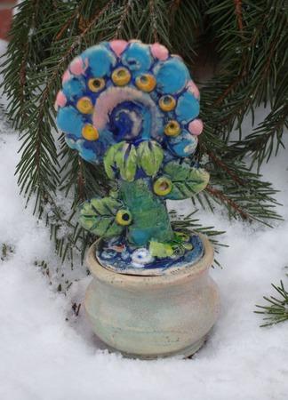 Цветочек в горшочке ручной работы на заказ