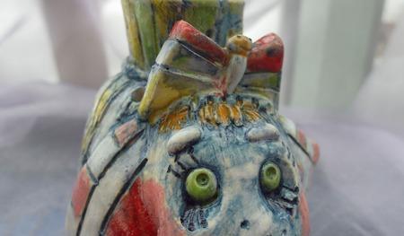 Акварельный слоник - аромолампа ручной работы на заказ