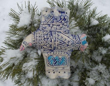 Снежная птица ручной работы на заказ