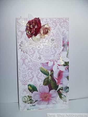 Иткрытки и конверт для денежного подарка ручной работы на заказ