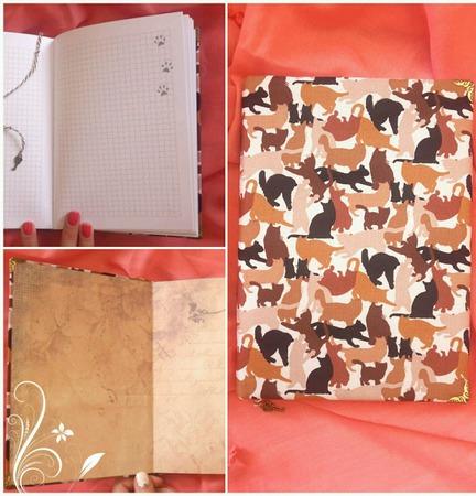 Блокнот с кошками ручной работы на заказ