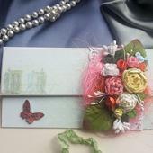 Открытка-конверт для денег ручной работы