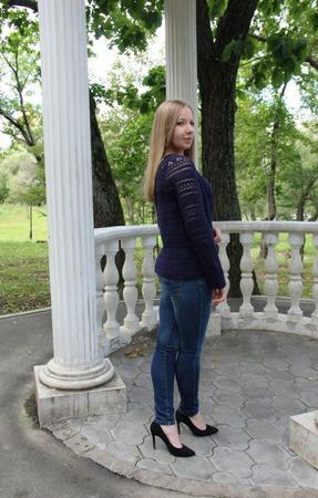 Жакет цвета ежевики ручной работы на заказ