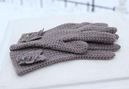 Шаль и перчатки ручной работы на заказ