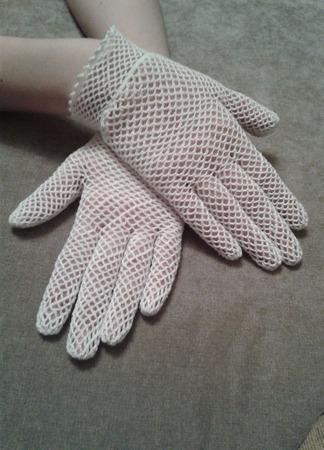 Белые перчатки ручной работы на заказ
