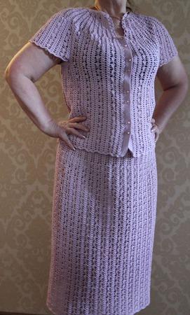 Костюм (юбка+жакет) ручной работы на заказ
