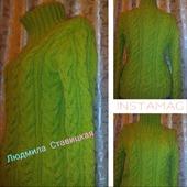 Оливковый свитер