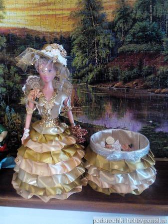 Кукла шкатулка ручной работы на заказ