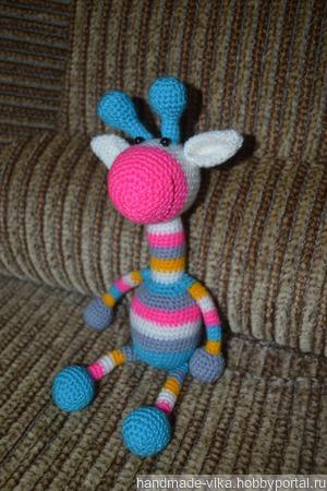 Радужный жирафик! ручной работы на заказ