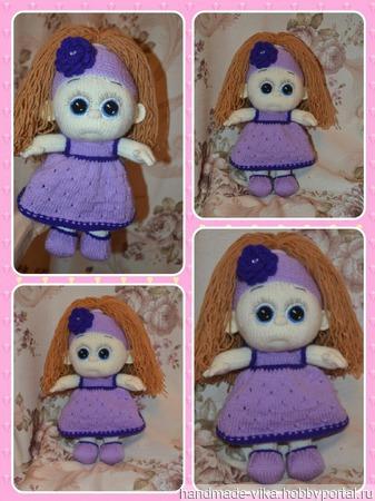 Куколка-Фиалка! ручной работы на заказ