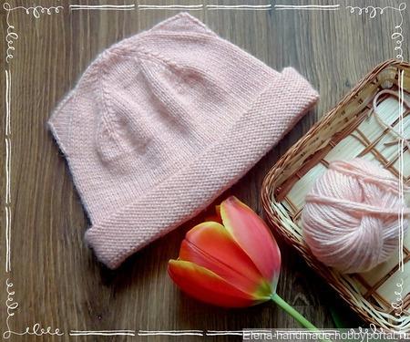 Шапка весенняя- котошапка для девочки ручной работы на заказ