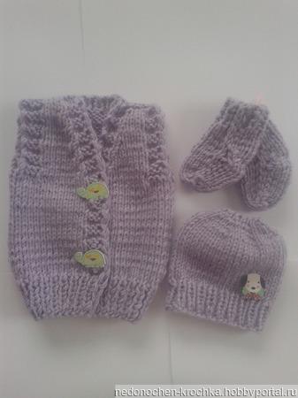 Комплект для новорожденных недоношенных деток ручной работы на заказ