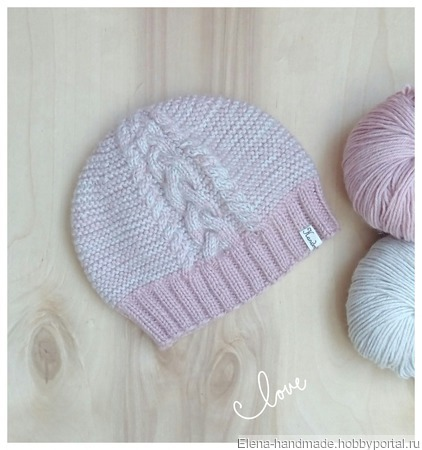 Комплект весенний шапка и снуд ручной работы на заказ