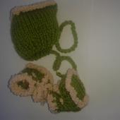 Комплект пинетки и шапочка