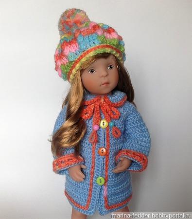 """Комплект """"Ландрин"""" (пальто и шапка) ручной работы на заказ"""