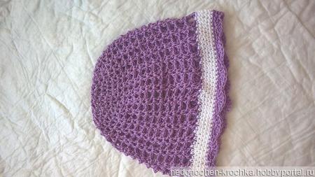 Панамка, шапочка для девочки ручной работы на заказ