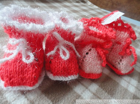 Пинетки для новорожденных ручной работы на заказ
