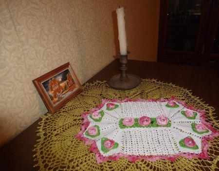 Салфетка с цветами ручной работы на заказ