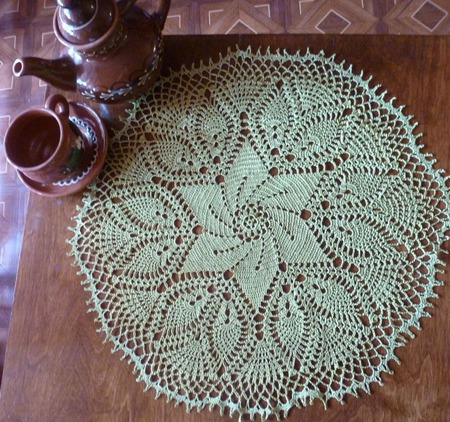 Салфетка оливковая ручной работы на заказ