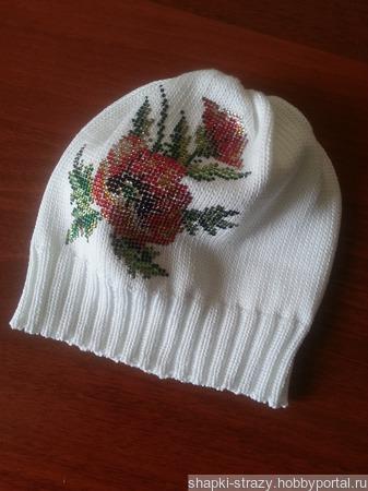 Хлопковая шапочка ручной работы на заказ